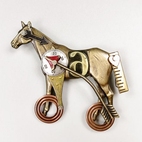Mullanium,-,Horse,with,Number,on,Wheels,Pin,Horse with Number on Wheels Pin, Mullanium pin, Mullanium horse pin