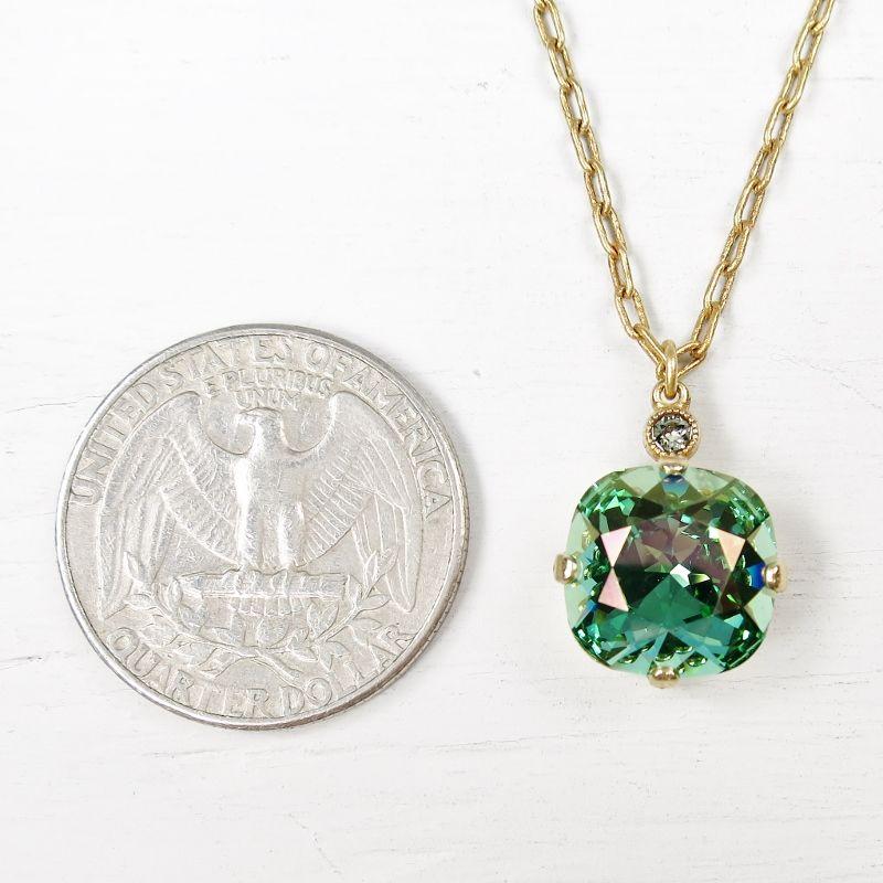 Catherine popesco round crystal pendant necklace in marine talich catherine popesco round crystal pendant necklace in marine product image mozeypictures Gallery