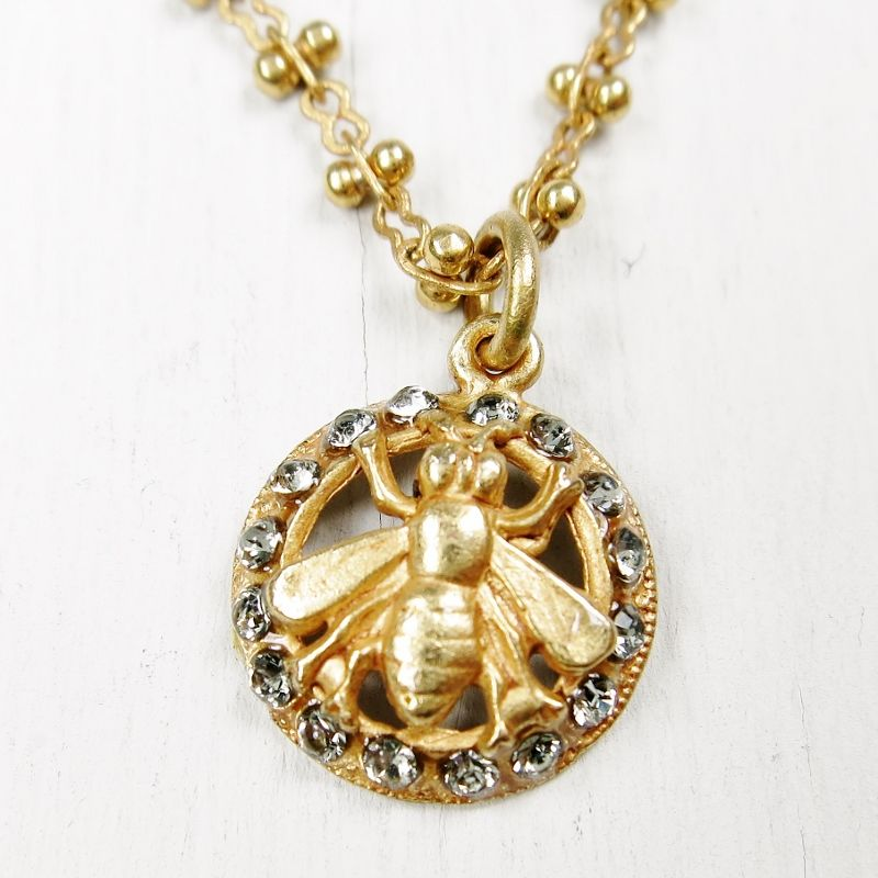 Catherine popesco swarovski crystal bee pendant necklace talich catherine popesco swarovski crystal bee pendant necklace product image aloadofball