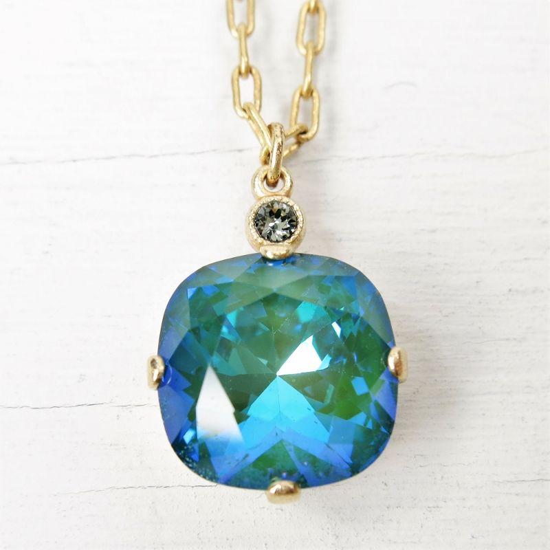 Catherine popesco round crystal pendant necklace in mermaid talich catherine popesco round crystal pendant necklace in mermaid product image mozeypictures Gallery
