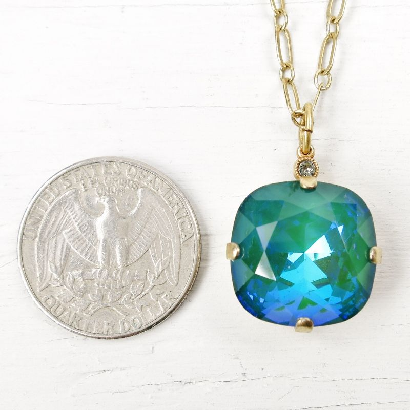 Catherine popesco 18 mm large swarovski crystal pendant necklace in catherine popesco 18 mm large swarovski crystal pendant necklace in mermaid product image aloadofball Image collections
