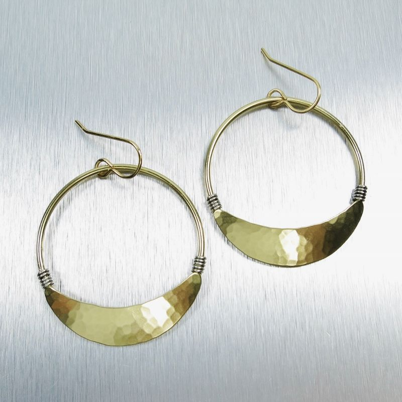 Marjorie Baer Wire Wrapped Large Hoop Earrings - TALICH