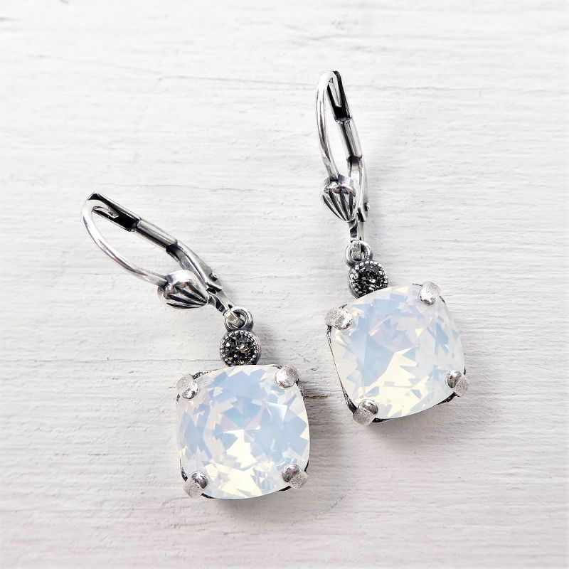 earrings silver metal antique statement link product