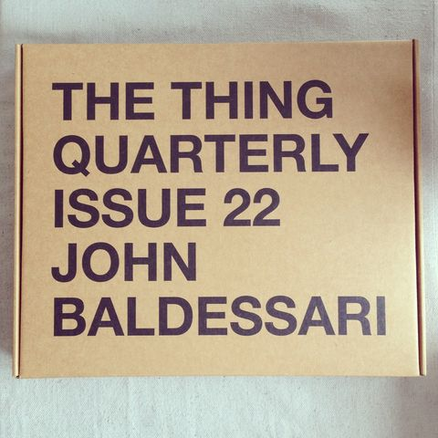 The,Thing,Quarterly,Issue,22:,John,Baldessari,the thing quarterly, john baldessari, pillowcase