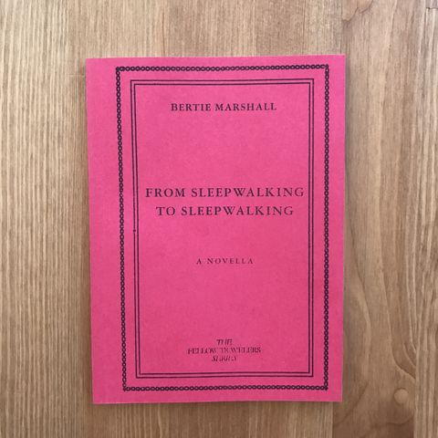 From,Sleepwalking,to,from sleepwalking to sleepwalking, bertie marshall, publication studio london