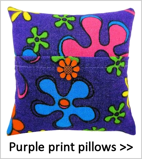 Purple print tooth fairy pillows for girls