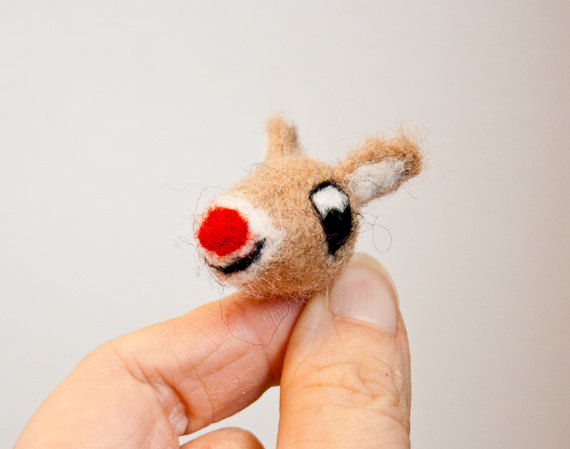 Rudolph the red nosed reindeer brooch - product images  of