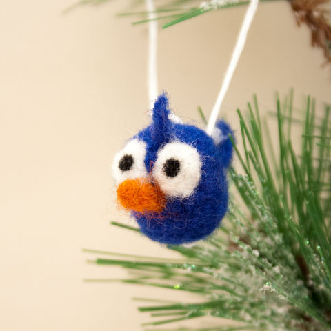 Bluebird,handmade,needle,felted,miniature,ornament,Holidays,Christmas,Ornament,bluebird,tiny bird,pocket friend,blue,woodland,decoration,bluebird ornament,Holiday ornament,Christmas ornament,Bird ornament,Needle felted bird,Felt ornament,wool roving