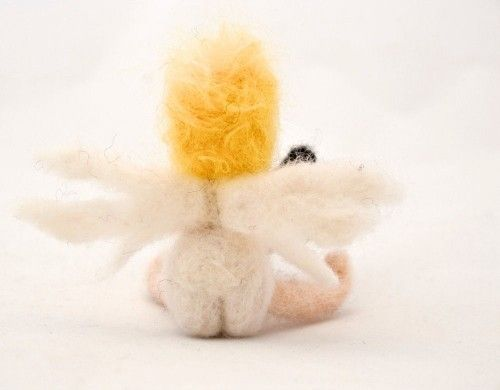 Cupid needle felted miniature - product images  of