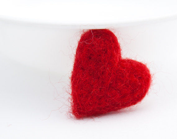 Heart felted brooch - product images  of