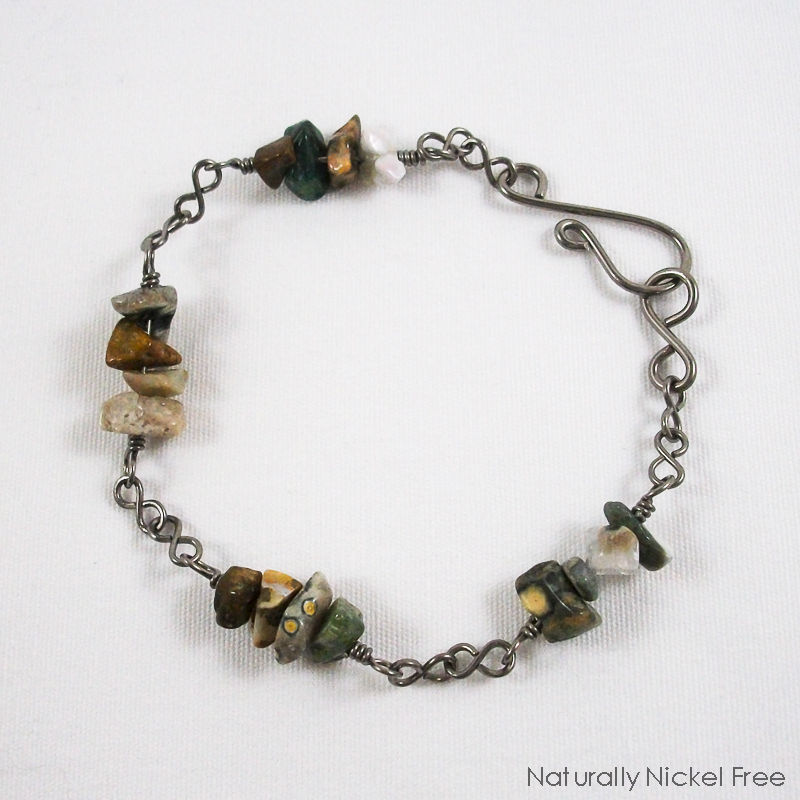 Ocean Jasper Niobium Bracelet - product images  of