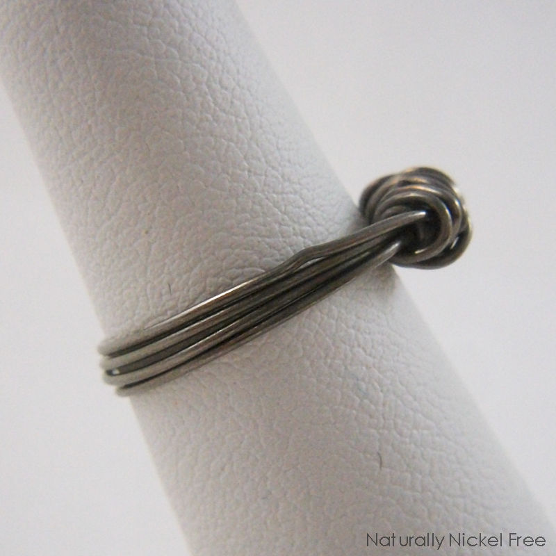 Niobium Wire Bundle Ring, Size 4 1/2 - product images  of
