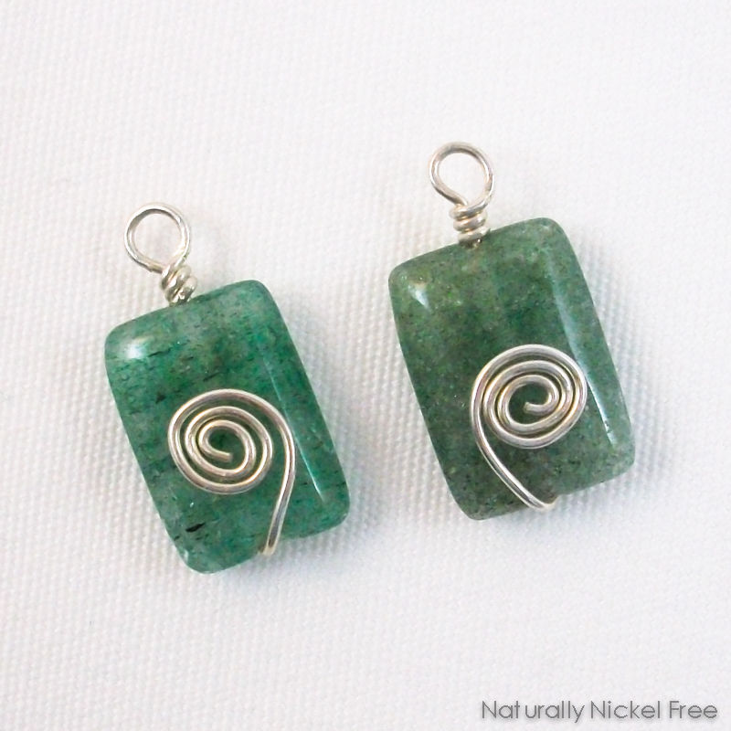 Green Indian Aventurine Add-on Earring Dangles - product image