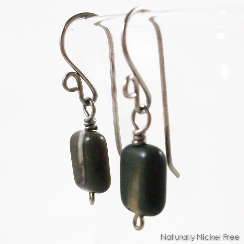 River Creek Jasper Niobium Dangle Earrings - product images  of