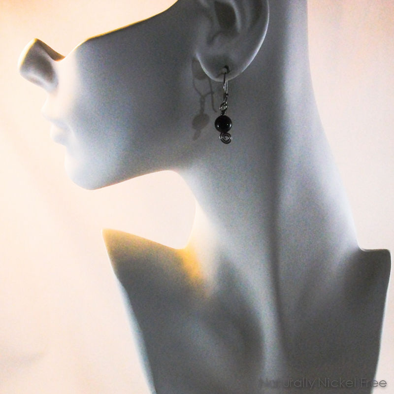 Mahogany Obsidian Earrings with Interchangeable Earwires - product images  of