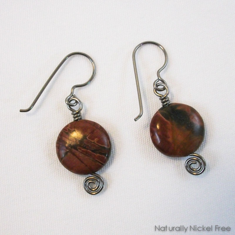 River Creek Jasper Niobium Earrings - product image