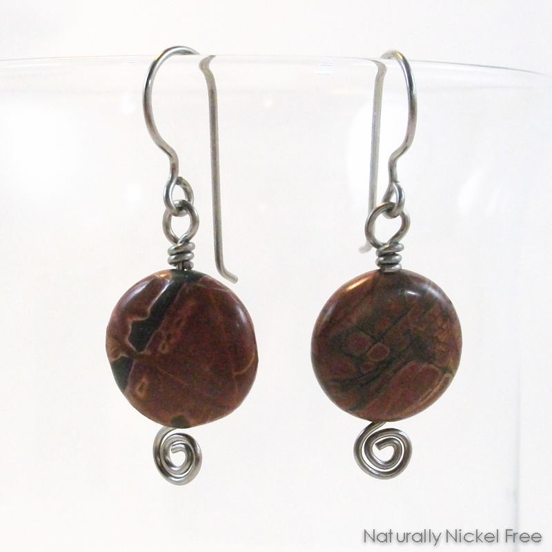 River Creek Jasper Niobium Earrings - product images  of