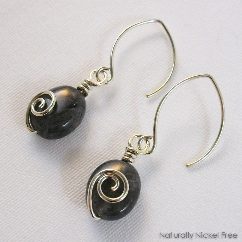 d50ae559b ... Labradorite Spiral Dangle Earrings - product images of ...
