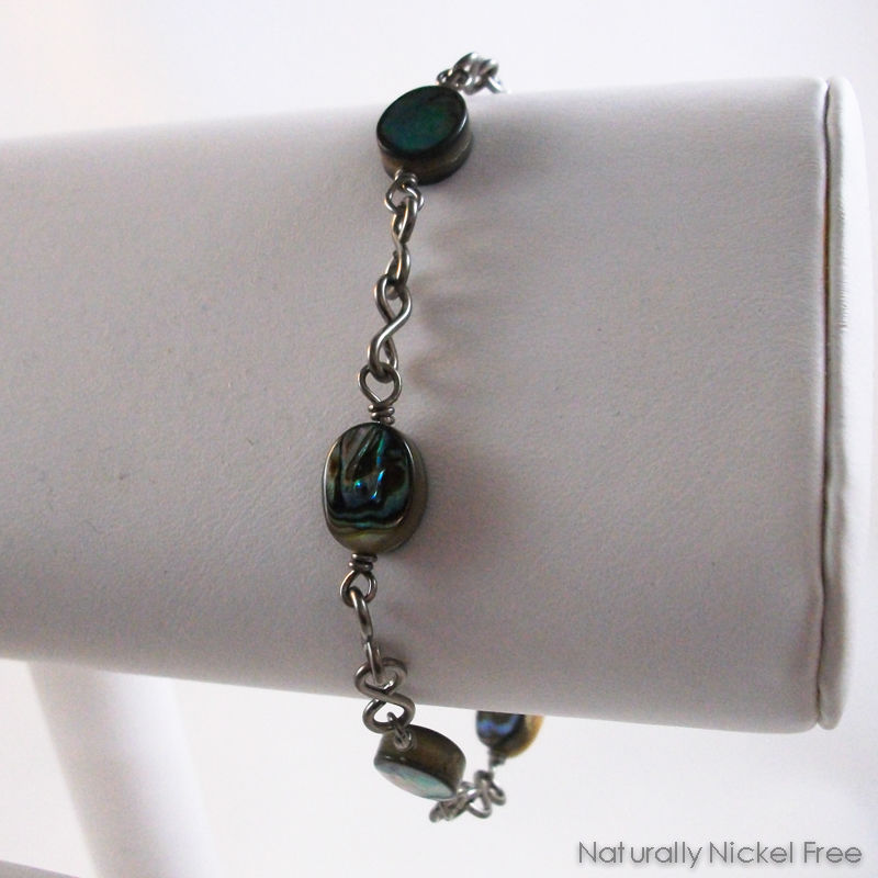 Abalone Shell Bead Bracelet Nickel-Free - product images  of