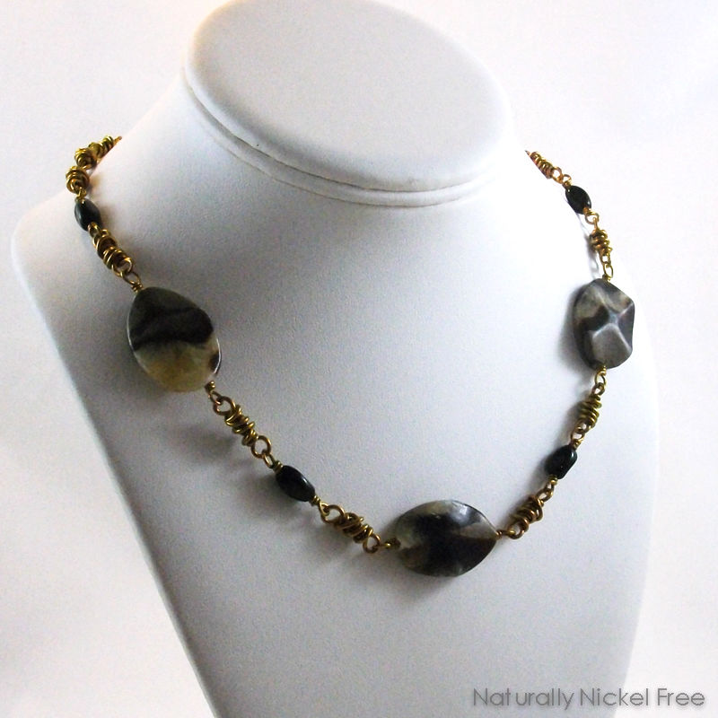 Septarian Stone Niobium Necklace - product images  of