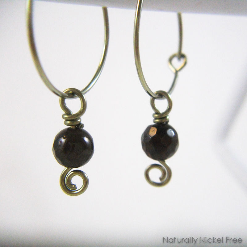 Garnet Hoop Earrings - product images  of