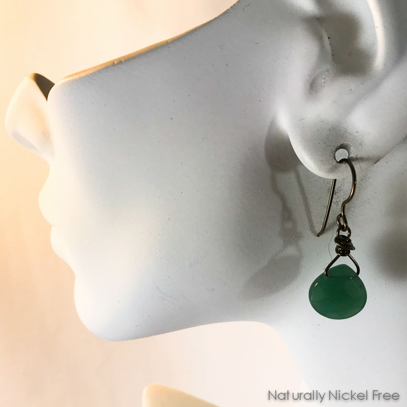 Green Aventurine Faceted Teardrop Earrings - product images  of
