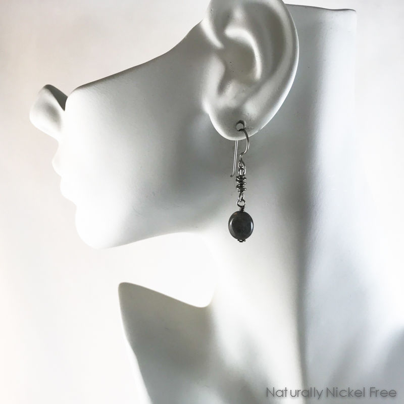Labradorite Helix Niobium Earrings - product images  of