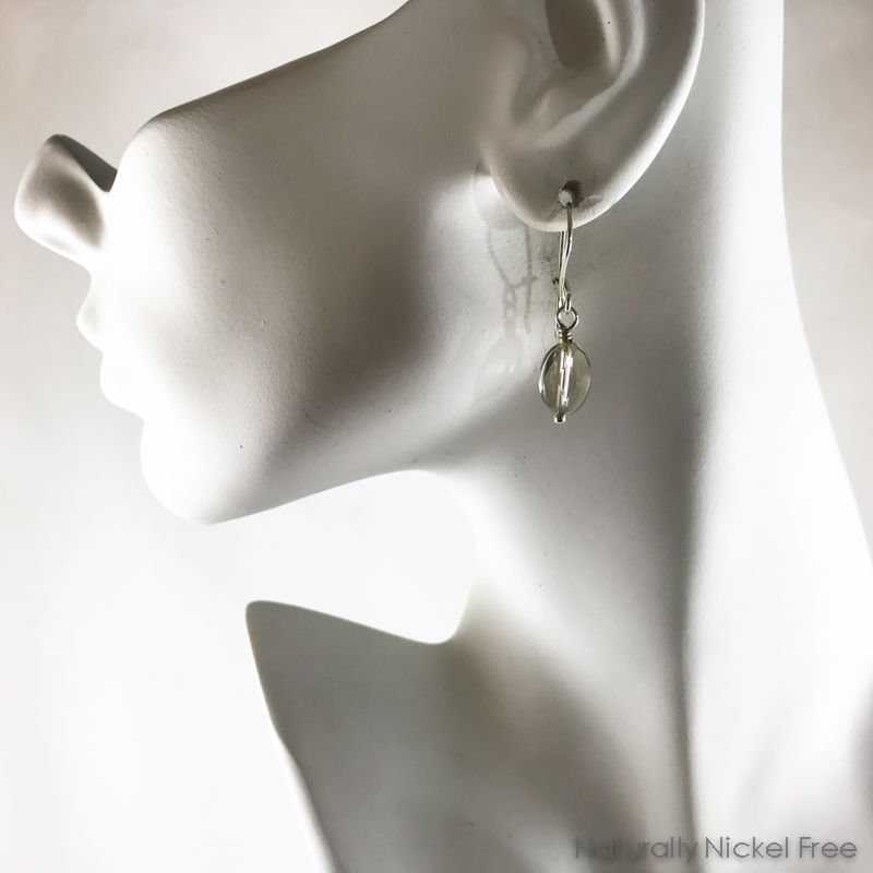 Faceted Smoky Quartz Crystal Drop Earrings - product images  of