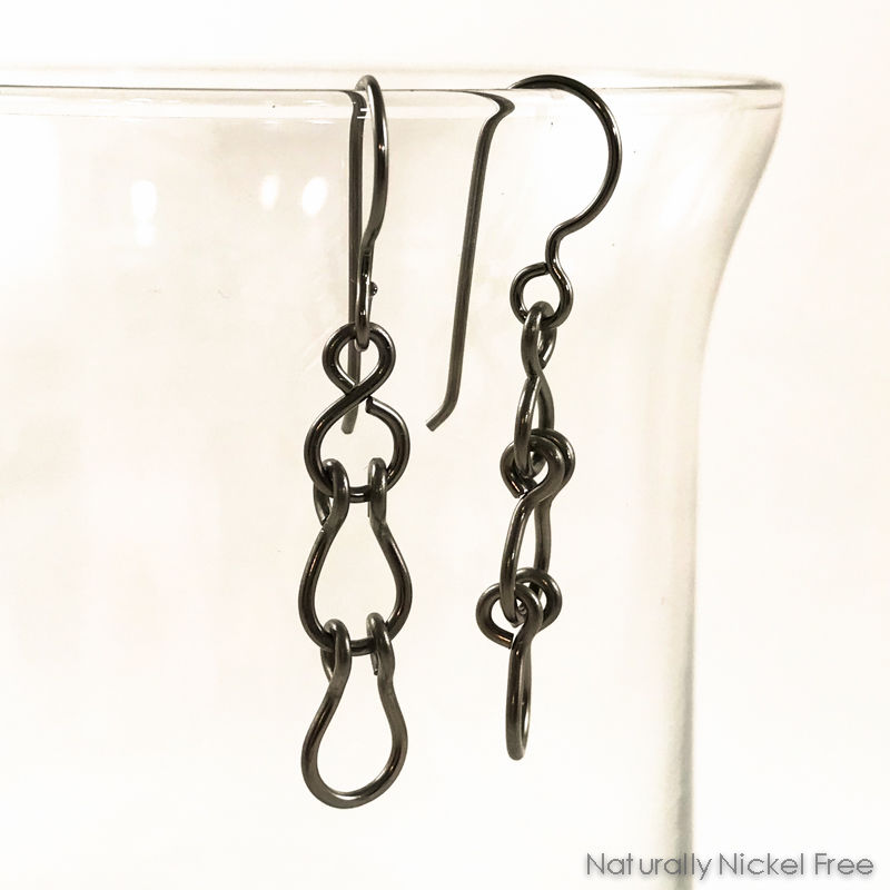 Swivel Link Niobium Dangle Earrings - Choose Your Color - product images  of