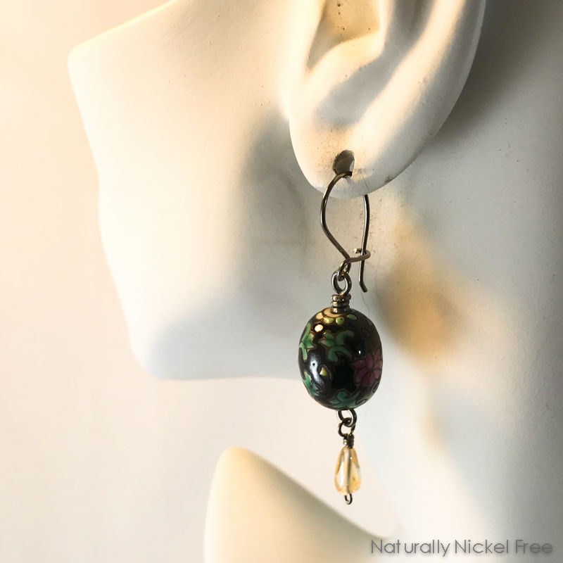Flowers & Raindrops Bead Earrings - product images  of
