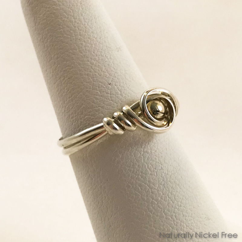 Silver Bead Silver Wire Ring - product images  of