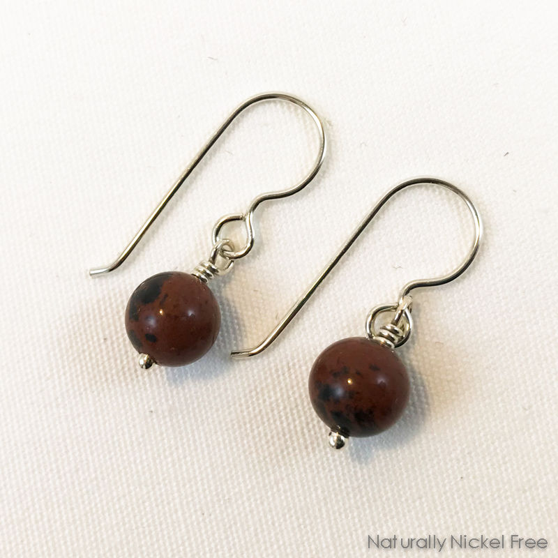Mahogany Obsidian Drop Earrings - product image
