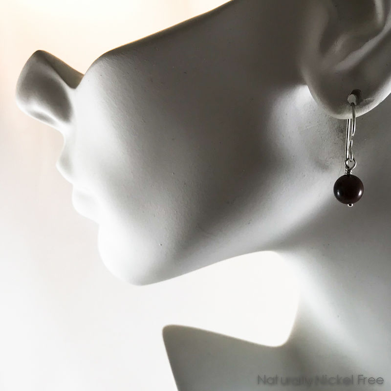 Mahogany Obsidian Drop Earrings - product images  of