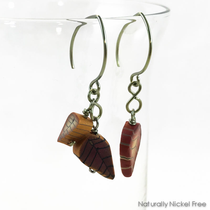 Falling Leaves Niobium Dangle Earrings - product image
