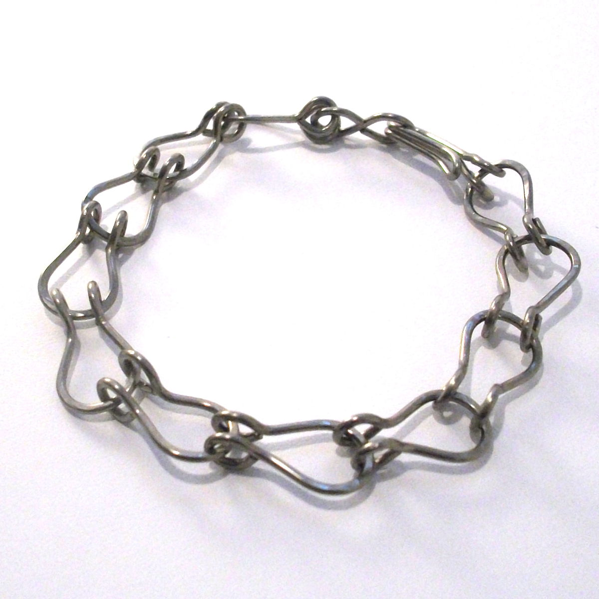 Niobium Horseshoe Claw Bracelet Handmade - product images  of