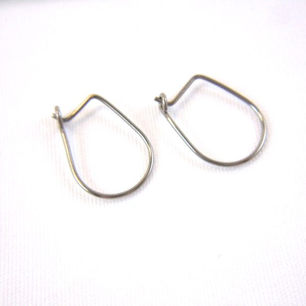 Niobium Straight Post Oval Hoop Earrings, Choose Your Color - product image