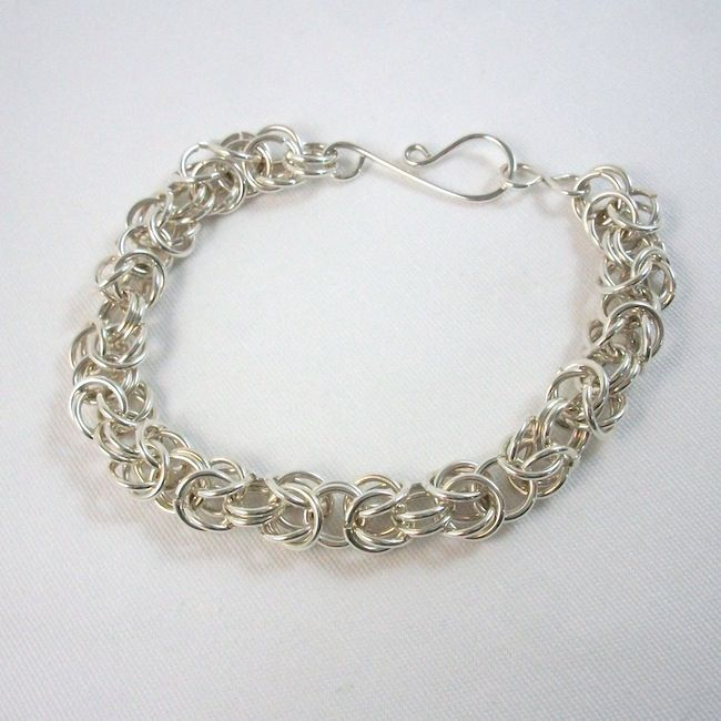 Chainmaille Bracelet Argentium Sterling Silver Handmade - product images  of