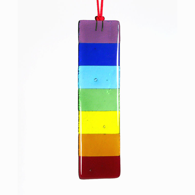 Rainbow Chakra Bar fused-glass suncatcher - product image