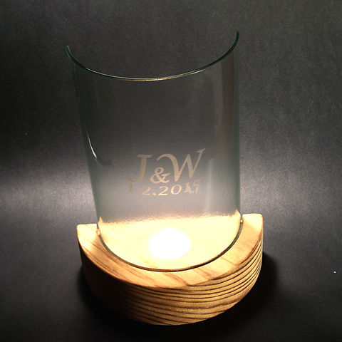 Bespoke,'hurricane,candle-lamps',with,etched,initials,/,dates,or,photos,inspired-glass, fused-glass, candle lamps, bespoke, made to order