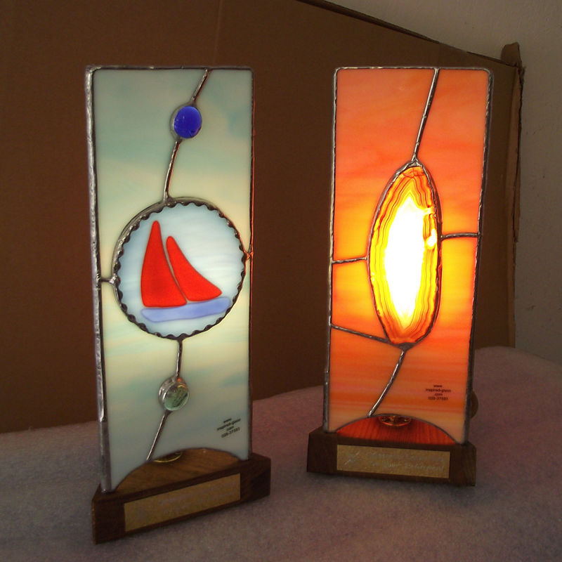 Bespoke stained-glass handmade lamps - product images  of