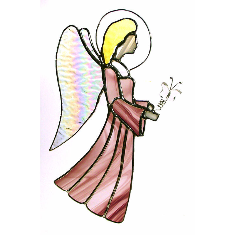 Large stained-glass angel suncatcher - product images  of