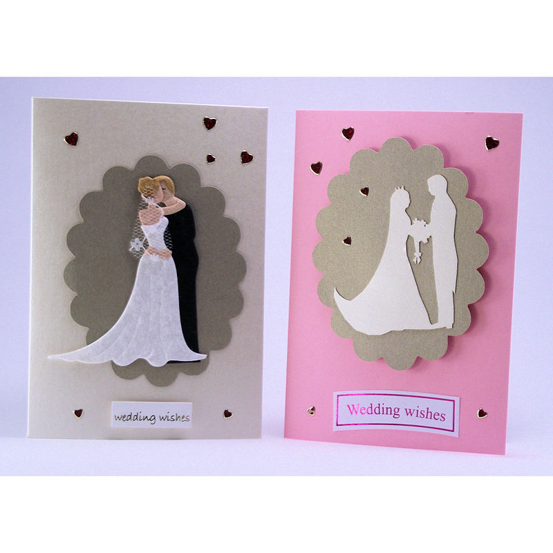 Two handmade 'wedding' cards - product image