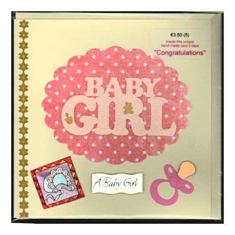 Handmade,'Baby,Girl,card,by,Chris's,Cards,inspired-glass, chris's cards, handmade cards, baby girl cards, greeting cards