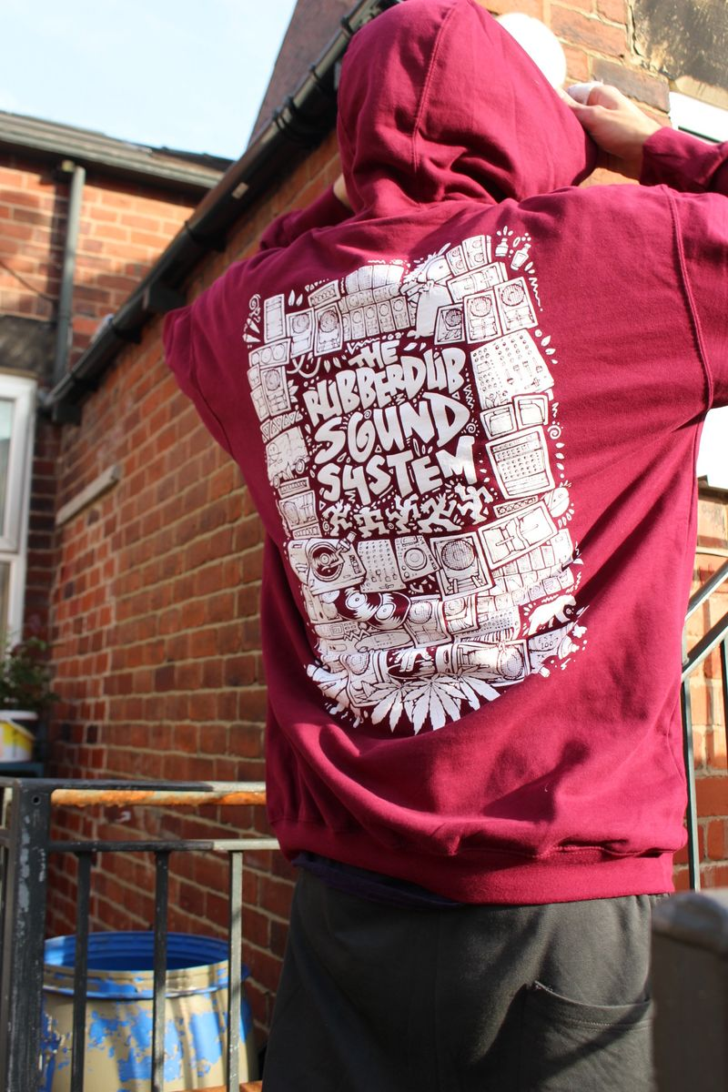 RubberDub SoundSystem Hoodie - Burgundeh - product images  of