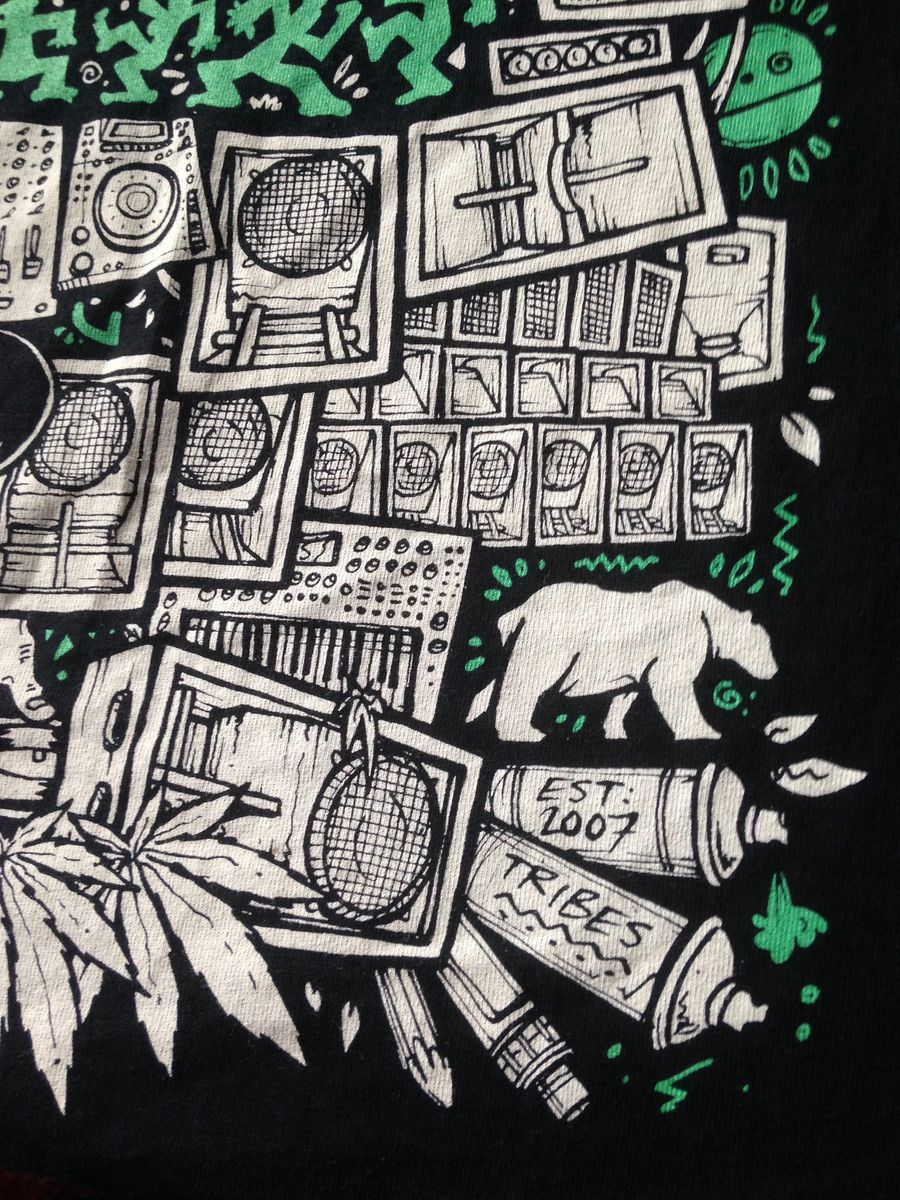 RubberDub SoundSystem Tee (BLACK N GREEN) - product images  of