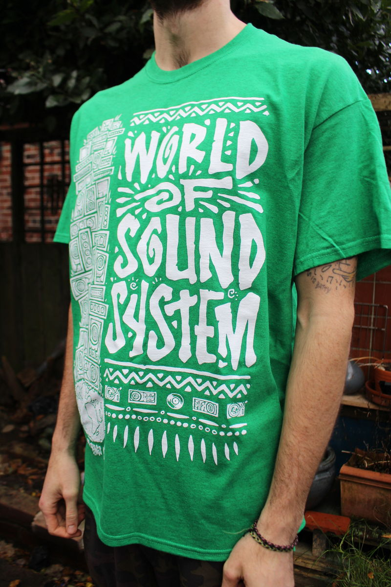 World of SoundSystem Tees - GREEN - product images  of