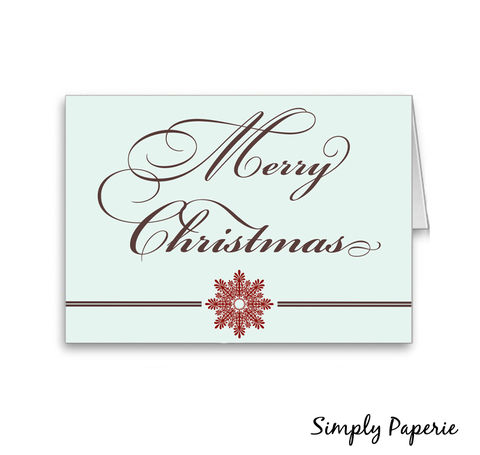 Merry,Christmas,Mint,and,Brown,Holiday,Card,Holidays,bright,cheerful,red,green,happy_holidays,blank,merry_christmas,mint,brown,snowflake,elegant,The_Artisan_Group,card