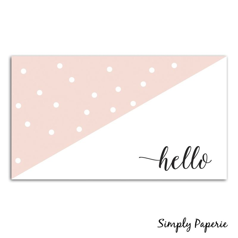 Pink Dot Calligraphy Business Cards - product images  of