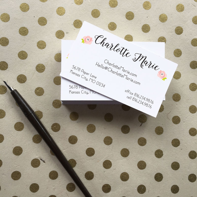 Rose Calligraphy Business Cards - product images  of