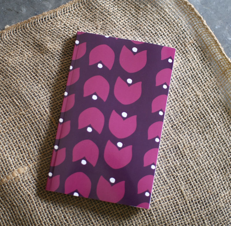 Winter Floral - Purple Print Notebook - product images  of